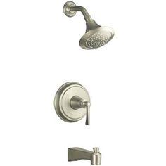 Kohler KT110774BN/K304 Archer One Handle Tub & Shower Faucet - Vibrant Brushed Nickel at Ferguson.com