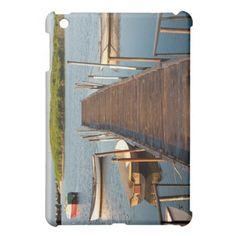 Boats and pier iPad mini case.
