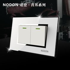 12.11$  Watch here - Norden crystal glass switch socket 118 Small two-gang one way two switches white mirror panel   #SHOPPING