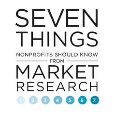 Things to Know from Market Research for nonprofits #nonprofit #activism #marketing
