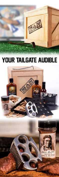 Gameday means grilling! Help your man host a better tailgate with this great grilling gift! Comes with grilling gadgetry and all kinds of stuff. Awesome gift for the guy who likes to grill! Craft Gifts, Diy Gifts, Cute Gifts, Best Gifts, Holiday Gifts, Christmas Gifts, Burlap Christmas, Man Crates, Just In Case