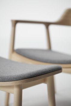 Naoto Fukasawa Hiroshima Armless Chair - felt and wood Furniture Upholstery, Home Furniture, Furniture Design, Upholstery Repair, Upholstery Tacks, Upholstery Cushions, Chair Cushions, Furniture Ideas, Design Industrial