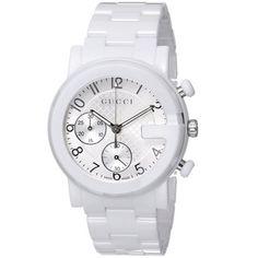 b831ccebc13 Gucci Men s YA101353  Gucci G Chrono  Swiss Quartz White Ceramic Watch  Online Watch Store