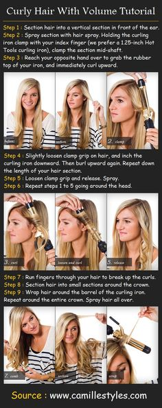 Curly Hair With Volume | Beauty Tutorials - could be tricky to do right but want to try this out