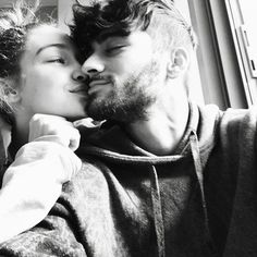 Gigi Hadid posts intimate photo with Zayn Malik for Valentine's Day Celebrating love! Gigi Hadid displayed her devotion to boyfriend Zayn Malik on Valentine's Day by posting a cute black and white photo of the two sharing a tender moment together