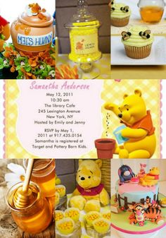 Classic Winnie the Pooh Baby Shower 1 by PartyDesignsDIY on Etsy ... : Baby Shower Themes Winnie The Pooh For Kids