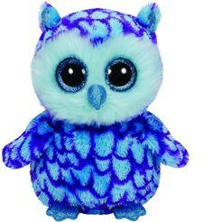 Ty Oscar the Blue Owl Beanie Boos Stuffed Animal Plush Toy