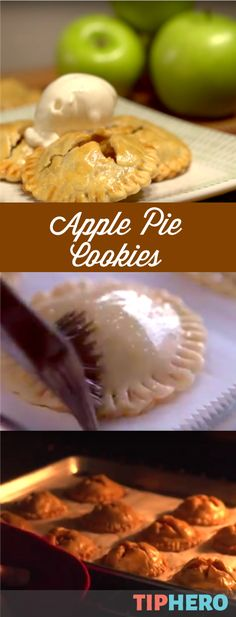 Apple Pie Cookies Recipe | Now you don't have to choose between pie and cookies for dessert - you can have both in one delicious bite. Perfect for holiday parties!