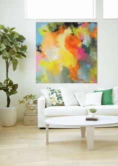 Uplifted Large original abstract painting by CorinneMelanieArt
