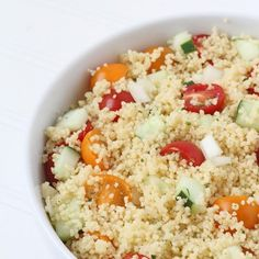 Quick and easy couscous salad! Ready in minutes! Good Peach Cobbler Recipe, Best Peach Cobbler, Dump Cake Recipes, Dessert Recipes, Couscous Salad, Pie Dessert, Side Recipes, Delicious Desserts, Easy Meals