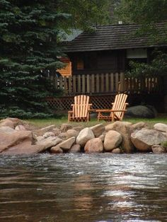 Peaceful setting by the lake. A place to sit back and relax. Lake Cabins, Cabins And Cottages, Cabin Homes, Log Homes, Peaceful Places, Beautiful Places, Serenity, Cabins In The Woods, Lake Life