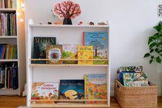 Read In French, Bookshelves, Bookcase, Montessori Books, Magazine Rack, Autumn, Storage, Furniture, Home Decor