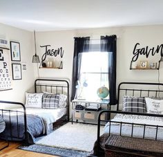 This photo is genuinely a noteworthy style theme. Big Boy Bedrooms, Boys Bedroom Decor, Home Bedroom, Girls Bedroom, Boy Rooms, Kids Rooms, Shared Boys Rooms, Shared Bedrooms, Deco Kids