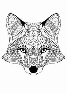 ausmalbilder tiere fuchs | ausmalbilder tiere, malvorlagen tiere, mandala tiere