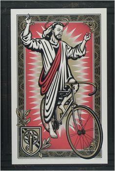 ArtCrank Bicycling Jesus