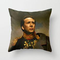 what every home needs, a Nicholas Cage throw pillow! yuck! seriously?