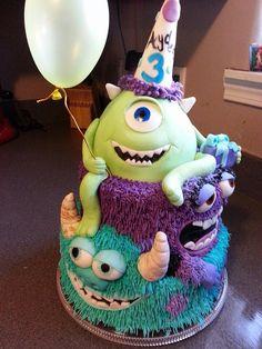 Monster University Cakes, Monster Inc Cakes, Birthday Wishes For Son, Birthday Ideas, Birthday Cake, Monster Inc Party, Monster Birthday Parties, No Bake Cake Pops, Monsters Inc Baby Shower