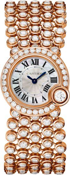 Ballon Blanc de Cartier watch 24mm, pink gold, diamonds
