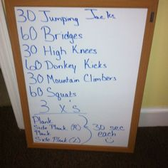 Today's WOD--burn those legs and booty up