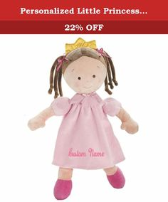 "Personalized Little Princess Doll - 16 Inch - Brunette, CUSTOM NAME. DIBSIES Personalization Station is now providing the ability for Amazon.com shoppers to personalize this Bestselling and Highly Rated Little Princess Doll with their choice of name. *** PLEASE READ *** Your order will automatically be processed with the name of your choice. Please use the ""CUSTOMIZE NOW"" button to preview the name and then add to cart. This Toy Tips ""Trusted"" award-winning doll is the perfect gift for…"