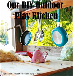 Our DIY Outdoor Play Kitchen