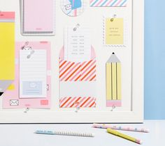 Put your dreams and goals on a Vision Board and be inspired to achieve every single one. Stationary Items, Stationary Supplies, Cute Stationery, Kikki K Planner, Paper Organization, Swedish Design, Writing Paper, Print Patterns, Projects To Try