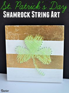 Make your own unique decor with this string art tutorial. We made a festive shamrock for St. Paddy's Day, but you can easily create any shape you'd like!