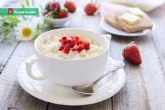Rice milk with delicious strawberries - Healthy Recipes Homemade Rice Pudding, Rice Pudding Recipes, Cooking Recipes, Healthy Recipes, Healthy Eats, Rice Milk, Muesli, Raisin, Kids Meals