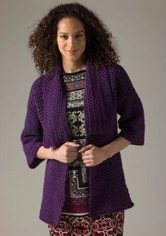 Level 1 Crocheted Cardigan (Crochet)