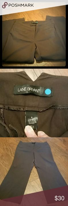 Lane Bryant brown slacks bootcut These are the perfect work slacks. Lightly worn, they didn't fit me for long. Only a little wear around the hems. They are a Lane Bryant 3 blue.  Which is about a size 20 women's.  They have a bit of stretch in them. Lane Bryant Pants Trousers