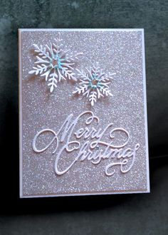 Quick and easy Christmas card using Glam Glitter (non-shedding) paper from The Paper Studio's 12 x 12 variety stack. Christmas Cards 2018, Christmas Card Crafts, Homemade Christmas Cards, Christmas Greeting Cards, Christmas Greetings, Homemade Cards, Handmade Christmas, Holiday Cards, Christmas Decor