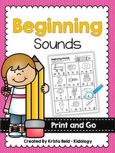 Print and Go Beginning Sound Activities.  Great for initial sound development.  These activities are great for morning work, literacy centers, fast finisher activities or as a take home.   $