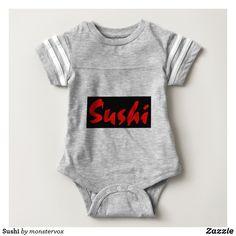 Sushi Baby Bodysuit #Sushi #Fish #Food #Japanese #Asian #Shirt #Tshirt #Tee #Fashion #Baby #Bodysuit