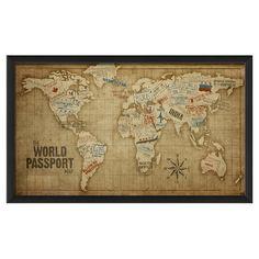 World Passport Framed Print - Collector's Choice