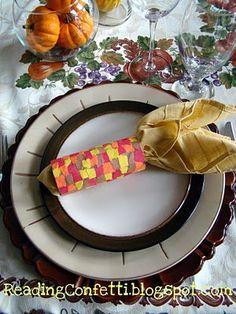 craft napkin holder for thanksviging   Indian Corn napkin holder for Thanksgiving. Great craft and decoration ...
