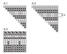 """Maia Basket - Kötött DROPS csuklómelegítő dupla rizsmintával és bordásmintával """"Alpaca"""" és """"Kid Silk"""" fonalból S- L méretben: - Free pattern by DROPS Design"""