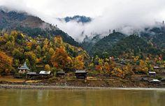 Beautiful ppst rain view of Kashmir