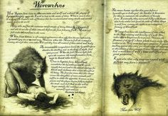 '~~' Manual Werewolves and = = = Werewolf Stories, Werewolf Art, Werewolf Mythology, Mythological Creatures, Fantasy Creatures, Mythical Creatures, Necronomicon Lovecraft, Myths & Monsters, Vampires And Werewolves