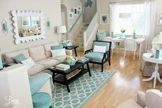 12 Small Coastal Living Room Decor Ideas with Great Style. 12 Small Coastal Beach Theme Living Room Ideas with Great Style. Learn How to Maximize Your Small Living Room Space. Small Living Rooms You can find out more details at the link of the image. Beach Living Room, Beach Room, Coastal Living Rooms, New Living Room, Home And Living, Small Living, Living Room Decor Turquoise, Living Room Themes, House Of Turquoise