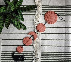 Bohemian wall decor. Boho art. Clay hanger. Ethnic art. Home decoration. Wall decor.