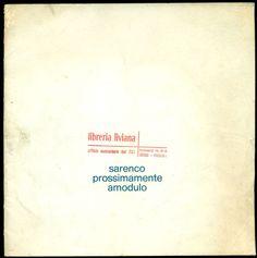 SARENCO, Prossimamente Brescia, Edizioni Amodulo, (20 X 20), 1969