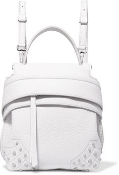 Tod's - Wave Mini Embellished Textured-leather Backpack - White