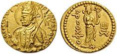 CNG: Printed Auction Nomos 10. INDIA, Kushan Empire. Huvishka, c. 152-192. Dinar (Gold, 21mm, 7.92 g 12), Mint I (A), 3rd emission.