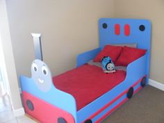 Thomas the Train bed..can anyone make me one of these? :)