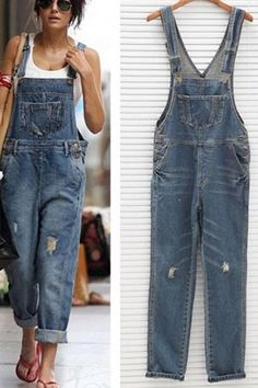 The women vintage wash straight leg denim jumpsuit with pocket bib is so casual and sexy and you will love it. Jumpsuit Casual, Denim Jumpsuit, Jumper Outfit Jumpsuits, Denim Overalls Outfit, Denim Dungarees, Overalls Women, Fashion Jumpsuits, Jean Overalls, Outfits With Overalls