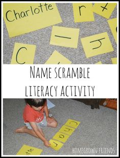 name scramble literacy activity is a great way to practice name recognition