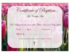 Free printable baptism certificate template prayers quotes christian baptism certificate template baptism certificate template for all ages with acts scripture yadclub Image collections