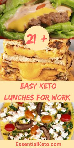 Keto Lunches for Work – low carb, gluten free & sugar free. Lots of healthy recipes that are packable too! Keto Lunches for Work – low carb, gluten free & sugar free. Lots of healthy recipes that are packable too! Ketogenic Recipes, Low Carb Recipes, Diet Recipes, Healthy Recipes, Slimfast Recipes, Cooking Recipes, Celiac Recipes, Diet Meals, Diet Foods