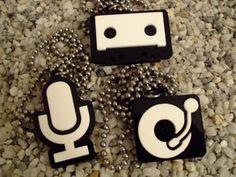 God is a DJ laser cut acrylic pendant by BadChihuahuaDesign, $15.00