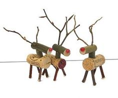 Wine corks = Reindeer. I've got 6 months to work on creating my herd! :)